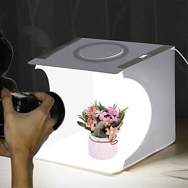 billige Kamera, Bilde & Video-puluz pu5023 20 cm ringlys bærbar sammenleggbar mini-skyte telt lightbox softbox med bakgrunn
