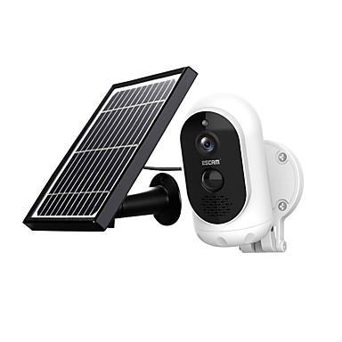 billige Sikkerhet og overvåkning-escam g12 1080p fullt hd solkamera 2 mp trådløst 6000 mah batteri utendørs oppladbart solcellepanel piralarm wifi kamera toveis lyd ip65 dagers nattsyn sikkerhetskamera