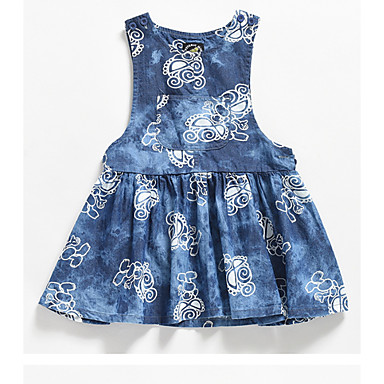 cheap Baby & Kids-Kids Girls' Tie Dye Dress Blue