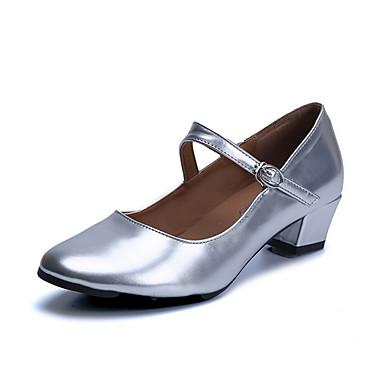 preiswerte Tanzschuhe-Damen Schuhe für den lateinamerikanischen Tanz PU Absätze Kubanischer Absatz Tanzschuhe Schwarz / Rot / Gold
