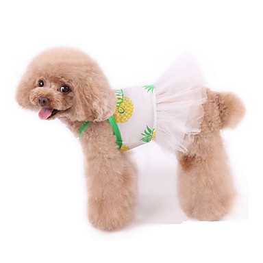 cheap Pet Supplies-Dog Dress Pajamas Fruit Leisure Cute Party Casual / Daily Dog Clothes Warm White Costume Cotton XXXS XXS XS S M L