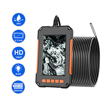 cheap Electrical & Tools-3.9mm Industrial Endoscope Camera 1080P HD 4.3IPS Screen Pipe Drain Sewer Duct Inspection Camera IP67 Snake Camera WIth 6 LED