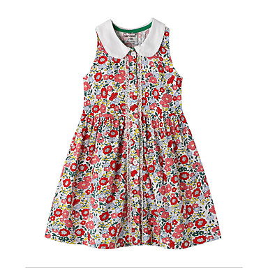 cheap Baby & Kids-Kids Girls' Cartoon Dress Red
