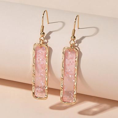povoljno Modne naušnice-Žene Viseće naušnice Geometrijski pomodan Naušnice Jewelry Plava / Blushing Pink Za Spoj Ulica