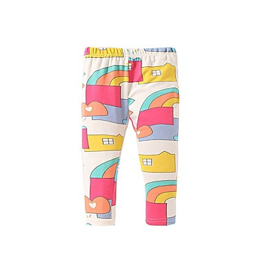 cheap Kids Collection Under $8.99-Kids Girls' Basic Print Pants Rainbow