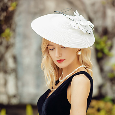 cheap Party Headpieces-Headwear Elegant Polyester Hats / Headpiece with Floral 1pc Wedding / Party / Evening Headpiece