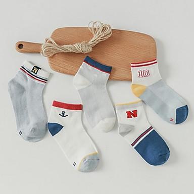 hesapli Kids CollectionUnder $8.99-Çocuklar Unisex Zıt Renkli İç Çamaşırı ve Çoraplar Gökküşağı