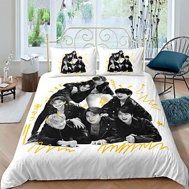 cheap Duvet Covers-BTS Home Textiles 3D Bedding Set  Duvet Cover with Pillowcase Bedroom Duvet Cover Sets  Bedding BTS