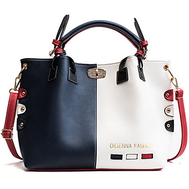 cheap Handbag & Totes-Women's Bags PU Leather Top Handle Bag Zipper Chain for Daily Black / Blue / Red