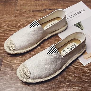 رخيصةأون أحذية سليب أون وأحذية مفتوحة للرجال-رجالي الصيف مناسب للبس اليومي المتسكعون وزلة الإضافات كانفا أسود / البيج / رمادي