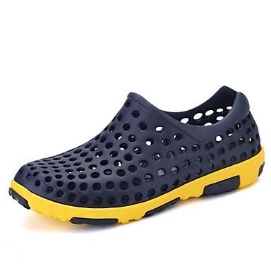 cheap Men's Shoes-Men's Summer Daily Sandals PU White / Blue / Brown Color Block