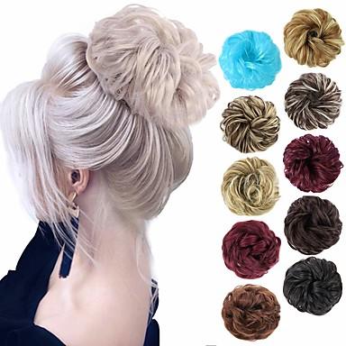 halpa Poninhännät-Nutturat / Ombre Nuttura Helppo pukeutuminen / Liukuvärjätty / Ihana Clip In Synteettiset hiukset Hiuspalanen Hiusten pidennys A15 / A16 / A17