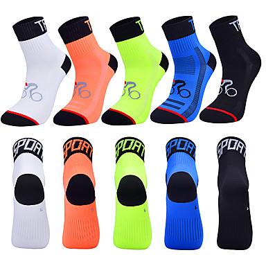 cheap Sports Underwear & Socks-Compression Socks Athletic Sports Socks Crew Socks Cycling Socks Men's Football / Soccer Cycling / Bike Bike / Cycling Breathable Wearable 1 Pair Winter Solid Color Chinlon Black White Orange M L XL