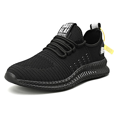 cheap Men's Athletic Shoes-Men's Summer / Fall Sporty / Casual Athletic Daily Trainers / Athletic Shoes Running Shoes / Fitness & Cross Training Shoes Tissage Volant Breathable Black / White / Black / Yellow / Orange / Black
