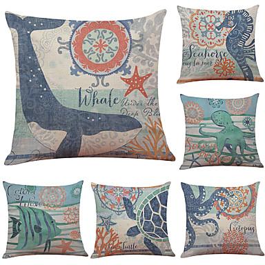 cheap Decorative Pillows-1 Set of 6 Pcs Linen Throw Pillow Covers Animal Print  Decorative Throw Pillow Case Cushion Case for Room Bedroom Room Sofa Chair Car, Panda Print,18 x 18 Inch