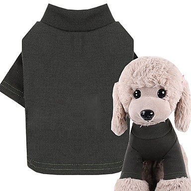 cheap Dog Clothes-Dog Cat Pets Shirt / T-Shirt T-shirts Dog Clothes Black Red Fuchsia Costume Beagle Bulldog Shiba Inu Cotton Striped Patterned Quotes & Sayings Logo Style Casual / Daily XS S M L