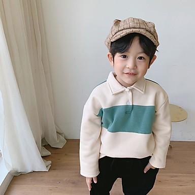 cheap Boys' Tops-Kids Boys' Basic Striped Long Sleeve Blouse Red