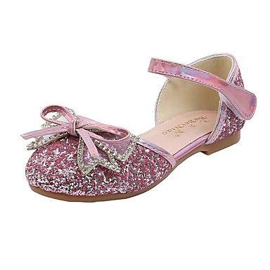 billige Børnesandaler-Pige Komfort PU Sandaler Små børn (4-7 år) Blå / Lys pink Sommer