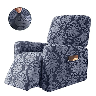 cheap Slipcovers-1-Piece Elegant Jacquard Recliner Chair Cover Stretch Spandex Sofa Slipcovers Covers Furniture Protector with Elastic Bottom Side Pocket