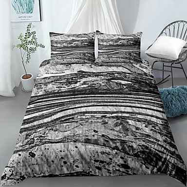 cheap Duvet Covers-Home Textiles 3D Print Bedding Set  Duvet Cover with Pillowcase 2/3pcs Bedroom Duvet Cover Sets  Bedding Stone pattern