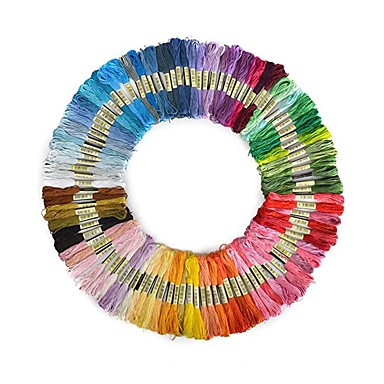 cheap Holiday & Party Decorations-50pcs Random Color embroidery DIY Silk Line Branch Threads Similar Dmc Thread Floss Skein Cross Stitch Thread