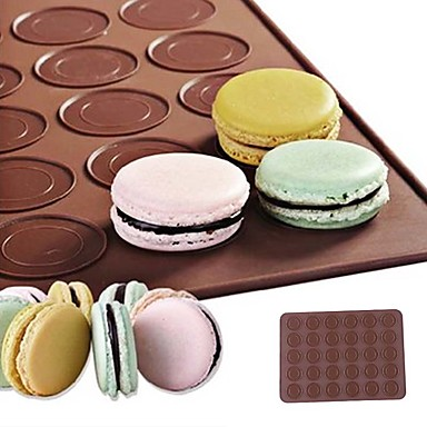 cheap Baking & Pastry Tools-Silicone 30-Cavity Non-stick Macaroon Roll Mat 1Pc