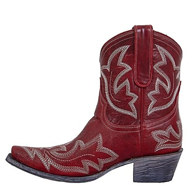 cheap Women's Boots-Women's Boots Cowboy Western Boots 2020 Wedge Heel Pointed Toe Casual Daily PU Mid-Calf Boots Walking Shoes Dark Brown / Red / Light Green