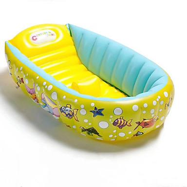 billige Oppustelige baderinge, svømmedyr  og pool-loungers-Badelegetøj Oppustelig pool PVC Sommer Blå Børne Voksne