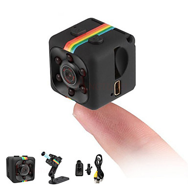 Security & Safety-HD 1080P Mini Camera SQ11 Full 2.0 mp Camcorder Night Vision Sports DV Video Recorder Small Camera Infrared Night Vision Security Camera Support 32G TF Card for Home Car Office Indoor and Outdoor