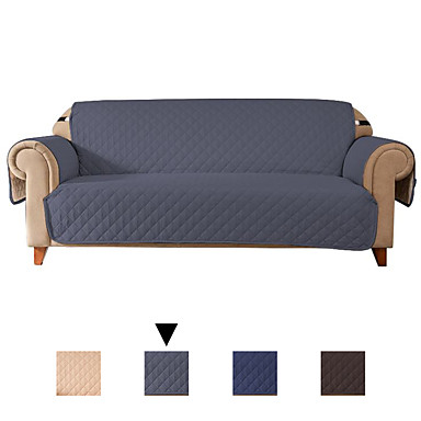 cheap Slipcovers-Sofa Cover Solid Colored Flocking Polyester Slipcovers