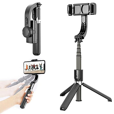 cheap Audio & Video-L08 Bluetooth Handheld Gimbal Smartphone Stabilizer With tripod selfie stick handheld For Huawei Xiaomi Samsung Youtube live