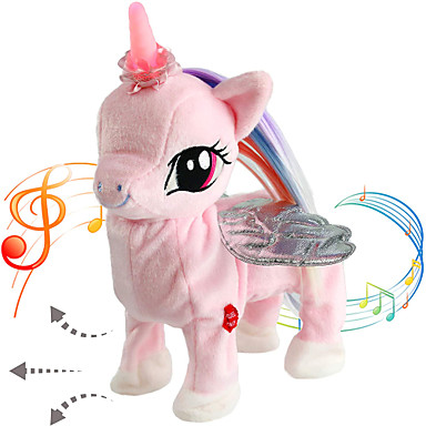 cheap Stuffed Animals-Electric Toys Stuffed Animal Plush Toy Unicorn Lighting Gift Singing Walking Interactive PP Plush Imaginative Play, Stocking, Great Birthday Gifts Party Favor Supplies Boys and Girls Kid's Adults