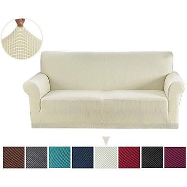 billiga Hemtextil-soffan täck soffan täck möbler skydd fast färg mjuk stretch soffa slipcover super strechable täck passar för fåtölj / kärl / tre sits / fyra sits / l form soffa lätt att installera och sköta (gratis p