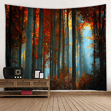 cheap Wall Tapestries-Tall Dense Woods Digital Printed Tapestry Decor Wall Art Tablecloths Bedspread Picnic Blanket Beach Throw Tapestries Colorful Bedroom Hall Dorm Living Room Hanging