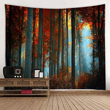 billige Wall Tapestries-høye tette skoger digitale trykte tapisser dekor dekor kunst duker sengeteppe picnic teppe strand kaste veggtepper fargerike soverom hall sovesal stue hengende