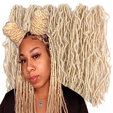 halpa Hiuspunokset-Lahjat Hiustartunta Aitohiusperuukit verkolla Laineita Box punokset Luonnollinen Synteettiset hiukset 18 inch Letitetty 4 osainen 6 osainen