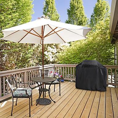 billige Kjøkkenutstyr og -redskap-vanntett grill grill grilldeksel uv beskyttende utendørs regn grill anti støvbeskytter for grilling grill