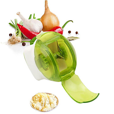 cheap Kitchen Utensils & Gadgets-Garlic Grater Mini Portable ABS Stainless Steel Household Crushed Roller Garlic Kitchen Garlic Gadget Cutter