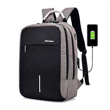 cheap Bags-School Bag / Commuter Backpacks Men's Polyester Zipper School / Outdoor Dark Grey / Black / Light Gray