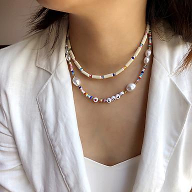 Hermoso Regalo Amor Mejores Deseos Blanco Perla Gota Jaula Colgante Collar Z