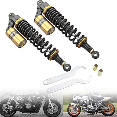 cheap Motorcycle & ATV Parts-RFY Universal 320mm 12.5inch Motorcycle Rear Shock Absorber Suspension For Honda/Yamaha/Suzuki/Kawasaki For Motor Scooter ATV Quad Dirt Bike