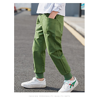 cheap Baby & Kids-Kids Boys' Basic Solid Colored Pants Light Green