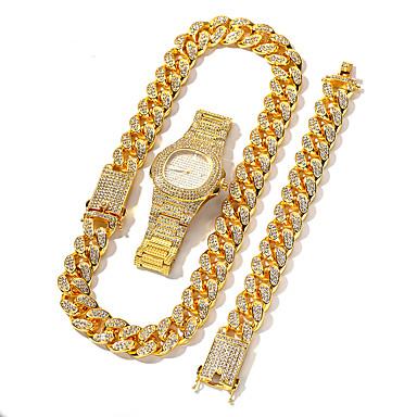 billige Big dial klokke-Herre Rustfritt stål Quartz Moderne Stil Elegant Luksus Kronograf Rustfritt stål Sølv / Gylden / Rose Gull Analog - Rosa Gull Sølv
