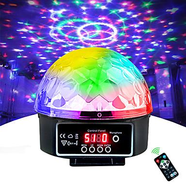 billige Forbrukerelektronikk-scene lampe led disco light laser 9 farger 21 modi dmx dj lyd festlys jul projektor lydlykter led disco ball light