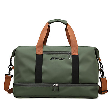 cheap Luggage & Travel Bags-Travel Bag Oxford Cloth Waterproof Walking Zipper Solid Color Sports & Outdoor Outdoor Gym Army Green / Khaki / Dark Blue / Unisex