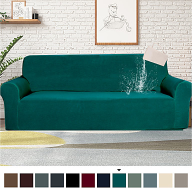 cheap Slipcovers-1 Piece Water-Repellent Sofa Cover Stretch Couch Covers Sofa Slipcover Protector for Living Room,Feature Small Checked,Dog Cat Pet Proof