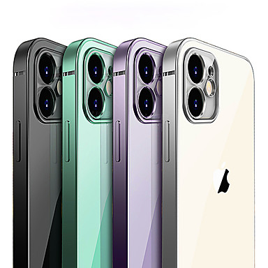 cheap iPhone Cases-Luxury Plating Square frame Transparent Case For iPhone 11 Pro Max 11Pro 11 Cases Slim Soft tpu Clear Camera Protection Cover