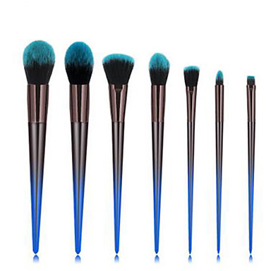 cheap Makeup Brush Sets-Professional Makeup Brushes 7pcs Professional Soft Full Coverage Comfy Artificial Fibre Brush Plastic for Blush Brush Foundation Brush Makeup Brush Eyeshadow Brush