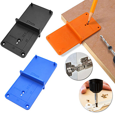 cheap Other Hand Tools-35mm 40mm Hinge Hole Drilling Guide Locator Hole Opener Template Door Cabinets DIY Tools For Woodworking Hand Tools Set