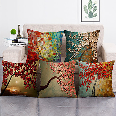 cheap Throw Pillow Covers-1 Set of 5 Pcs Throw Pillow Covers Modern Decorative Throw Pillow Case Cushion Case for Room Bedroom Room Sofa Chair Car,18*18 Inch 45*45cm
